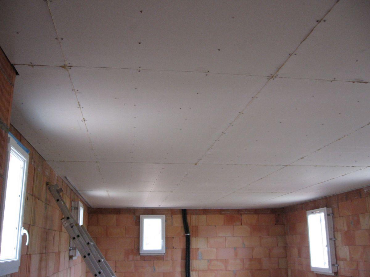 Travaux d 39 isolation thermique sablet avec du fermacell un mat riau co - Plaque isolation plafond ...