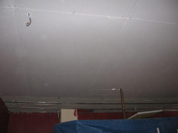 Cr ation de plafond isolant phonique orange pour un bar - Meilleur isolant phonique plafond ...