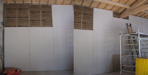 comment poser un doublage sur ossature m tallique en plaque de pl tre artisan plaquiste. Black Bedroom Furniture Sets. Home Design Ideas